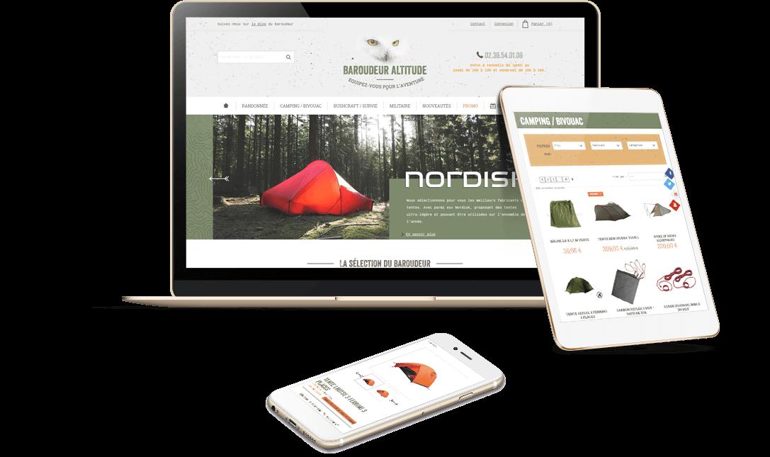 boutique en ligne matériel de randonnée Prestashop