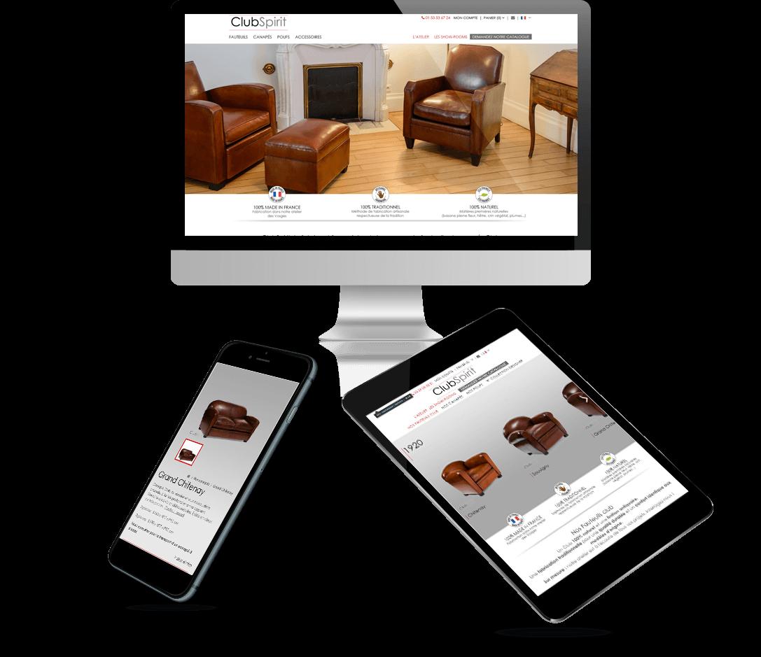 site e-commerce PrestaShop ClubSpirit