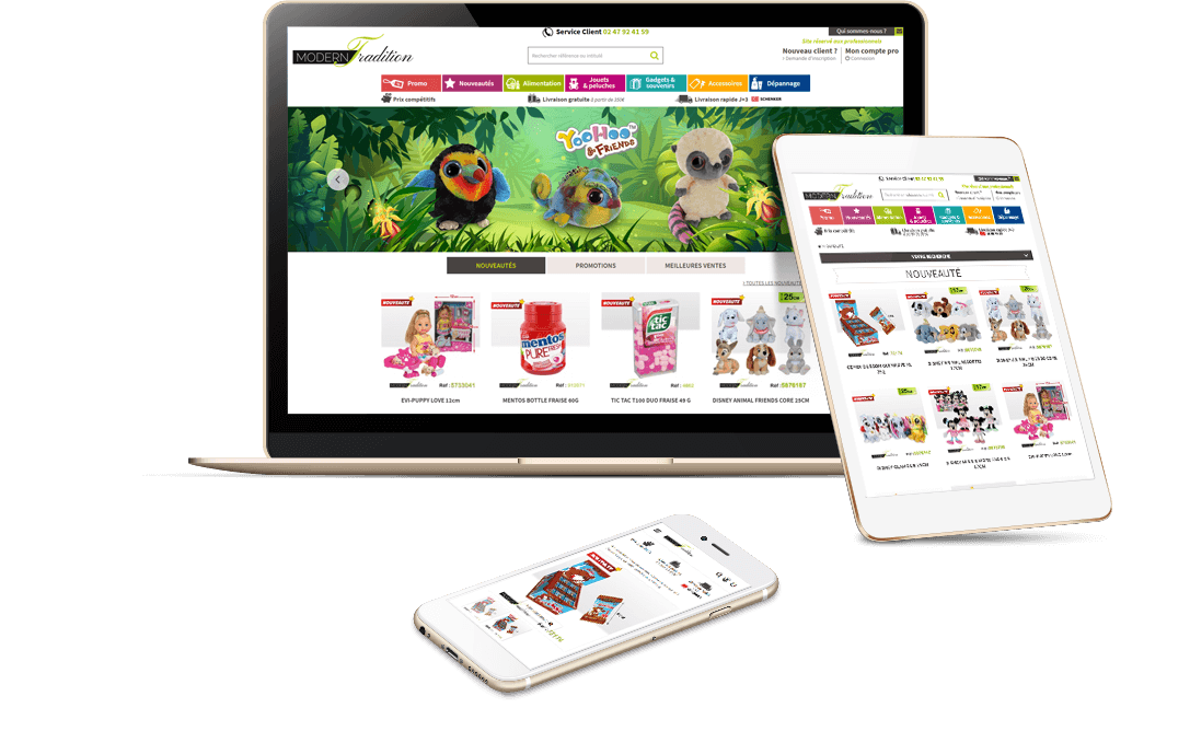 site e-commerce prestashop grande distribution btob