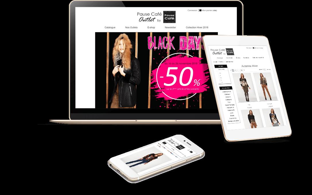 site e-commerce PrestaShop Pause Café