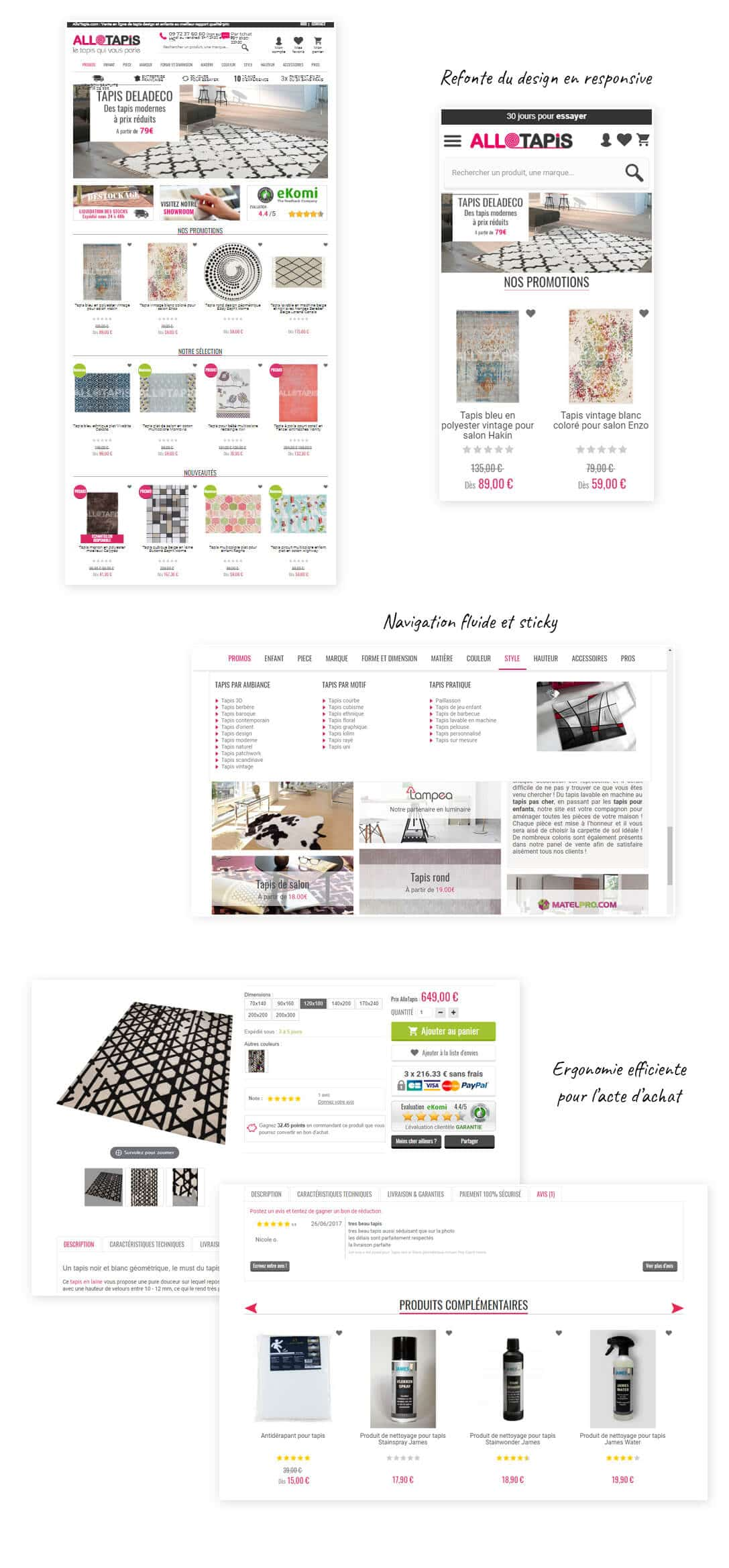 site e-commerce Prestashop tapis tendance