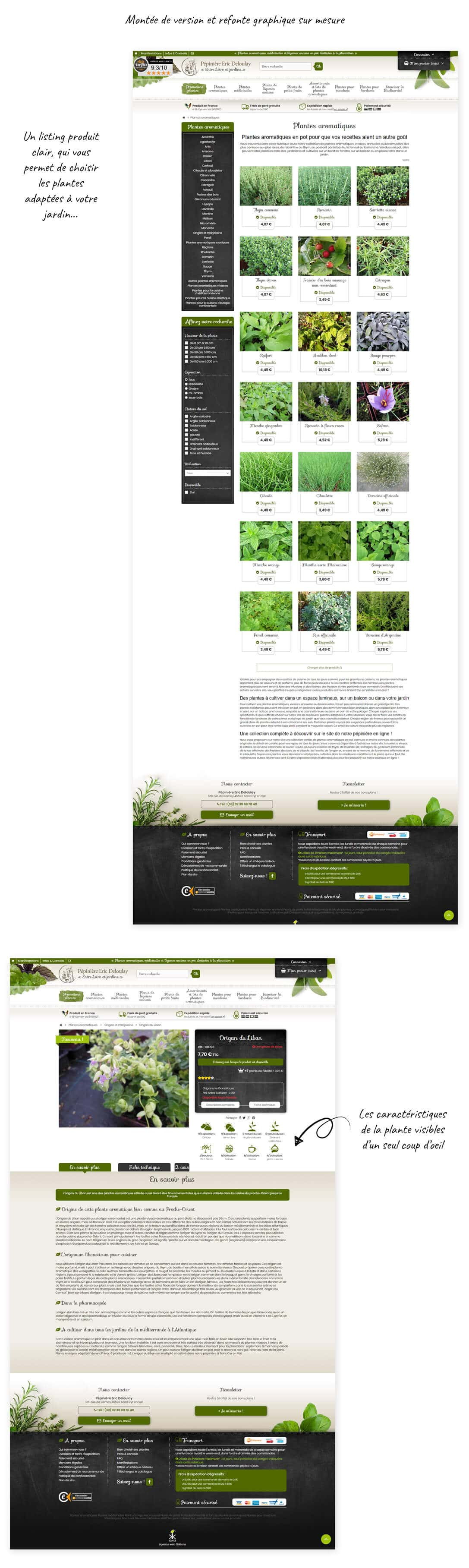 site e-commerce prestashop Aromatiques
