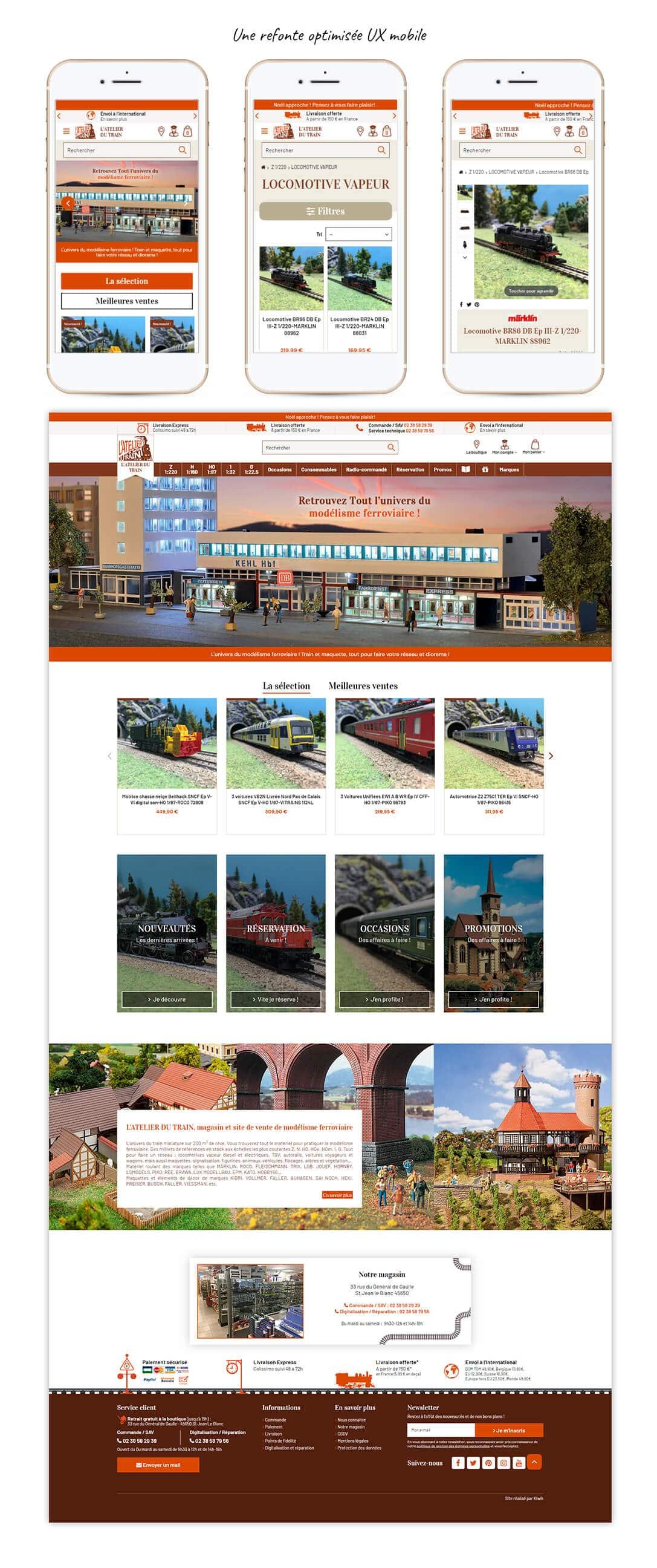 site e-commerce Prestashop de modélisme ferroviaire