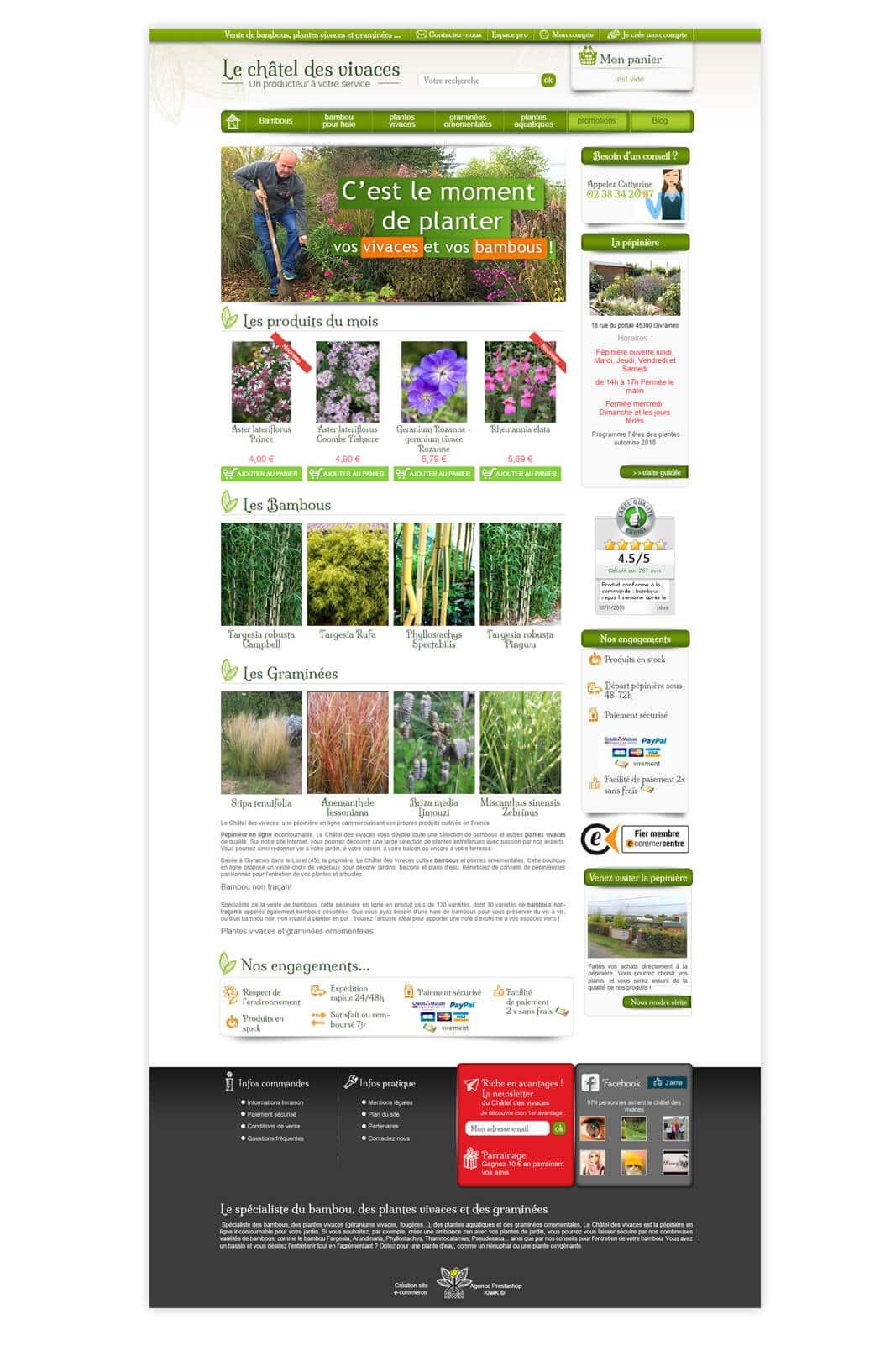 site PrestaShop Châtel des Vivaces