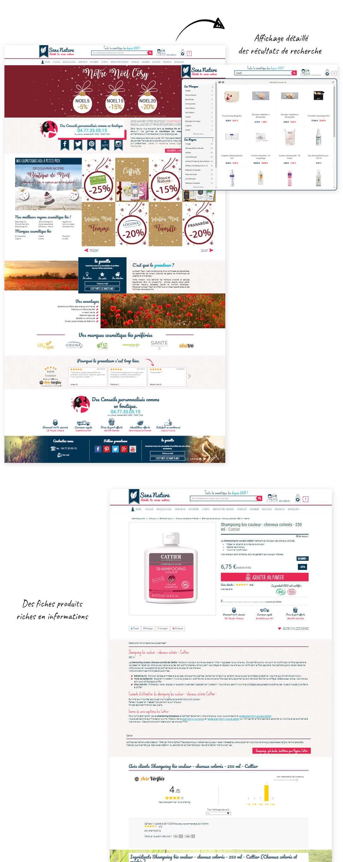 site e-commerce Prestashop maquillage et cosmétique bio