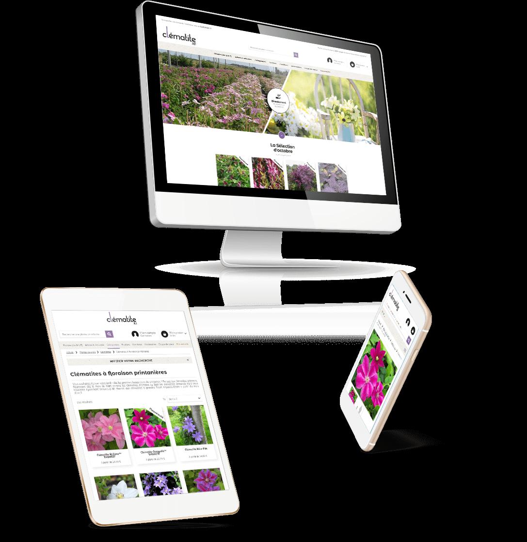 site e-commerce Prestashop Clématite