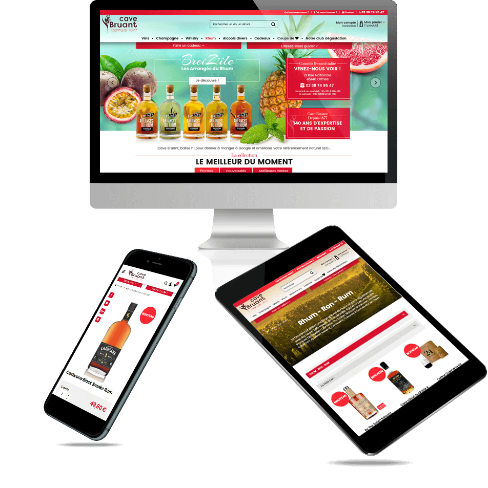 site e-commerce PrestaShop caviste Cave Bruant