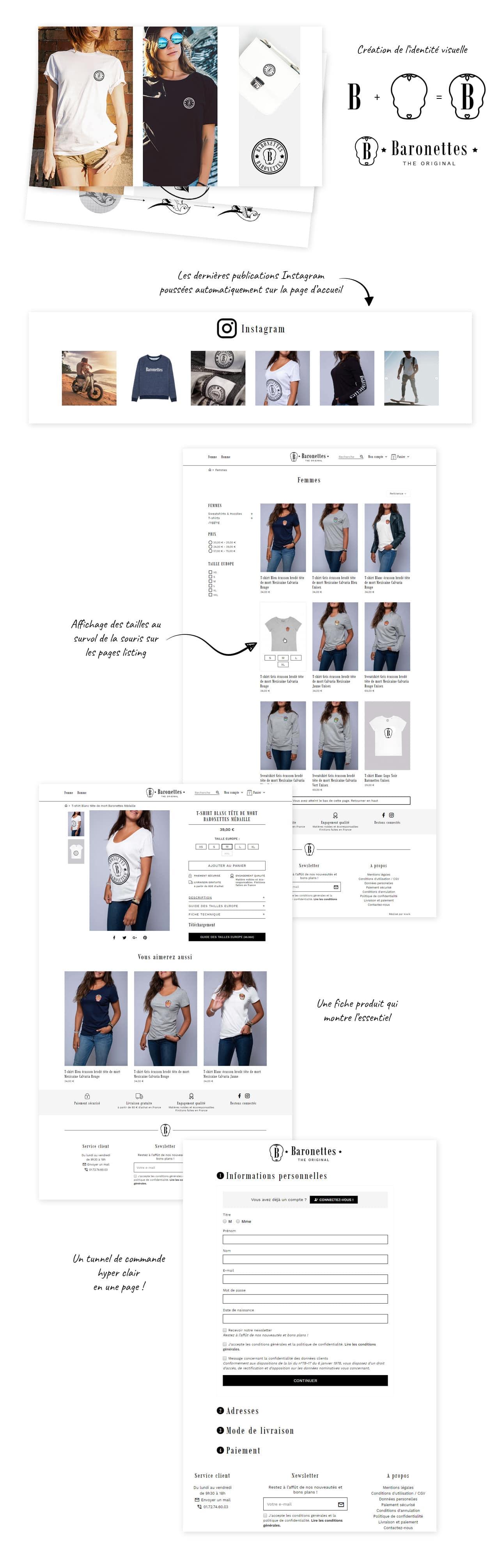 Référence e-commerce PrestaShop 1.7 Baronettes
