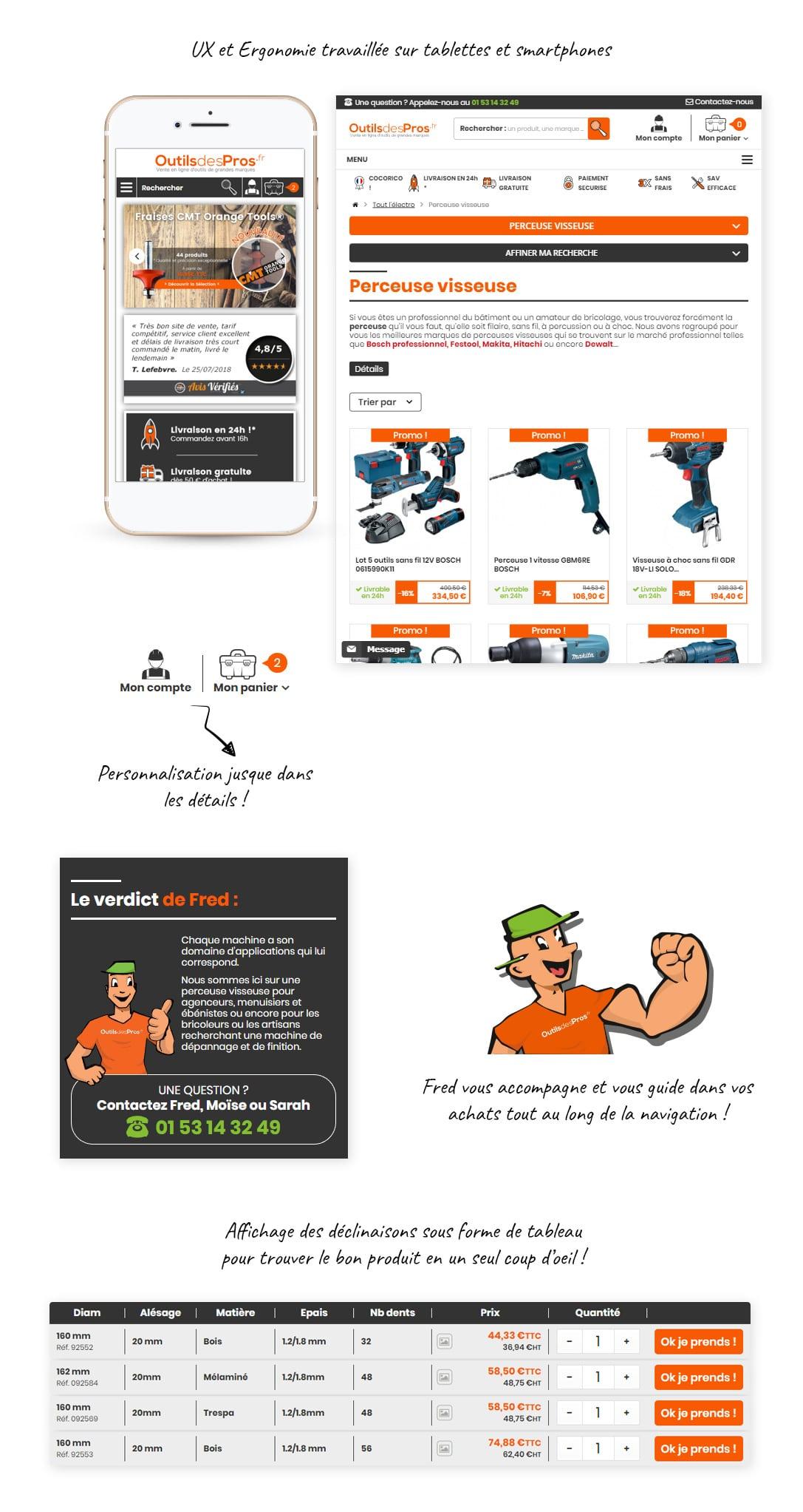 site e-commerce PrestaShop outillage - Outils des Pros