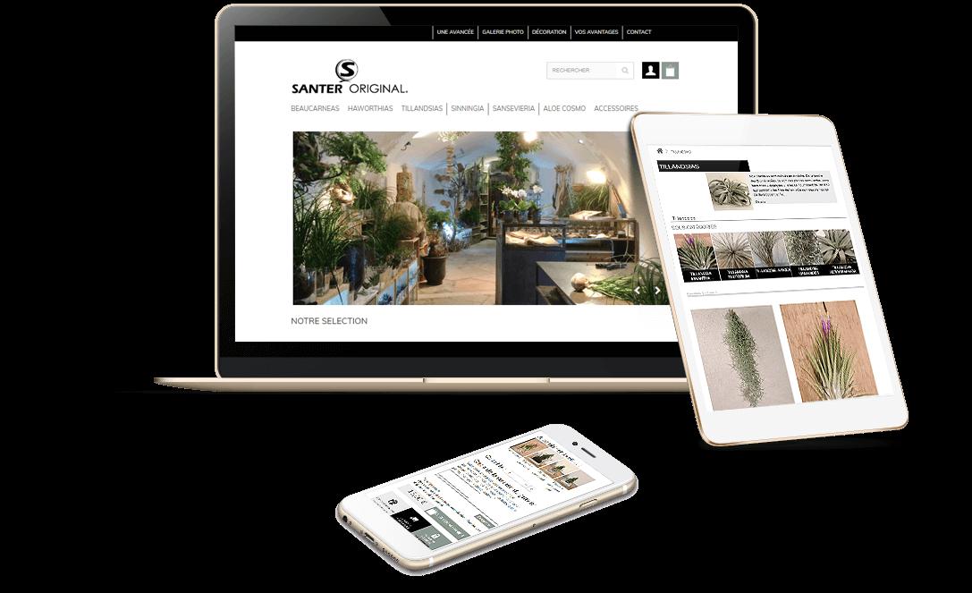 site e-commerce Prestashop de plantes