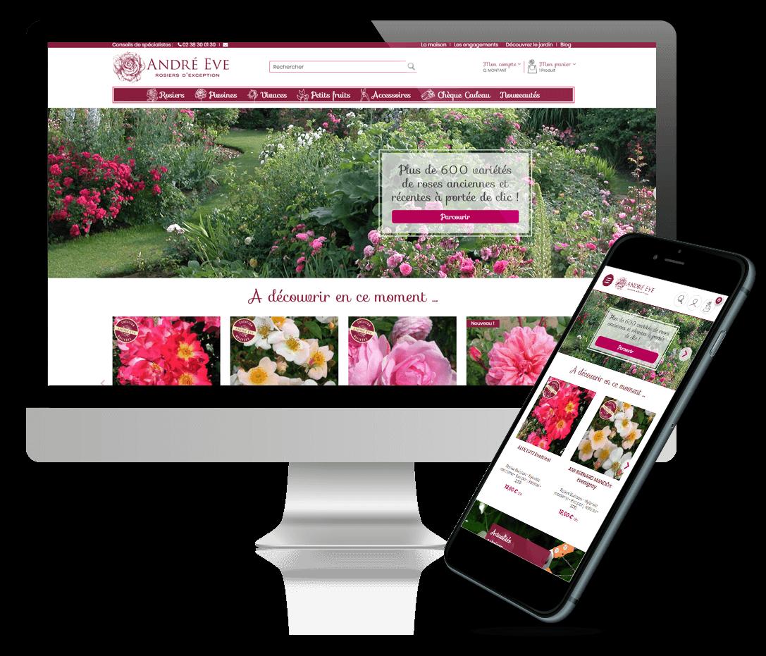 site e-commerce prestashop Rose André Eve