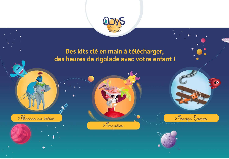 Odys-Planet, site PrestaShop réalisé par Kiwik