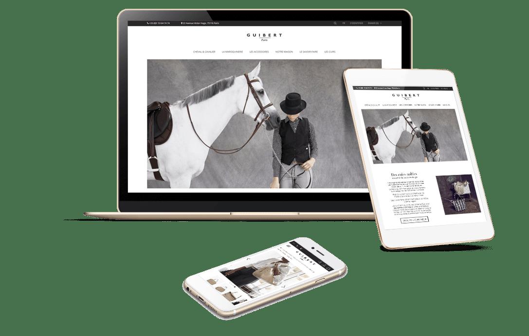 Réalisation e-commerce PrestaShop Luxe - Guibert Paris