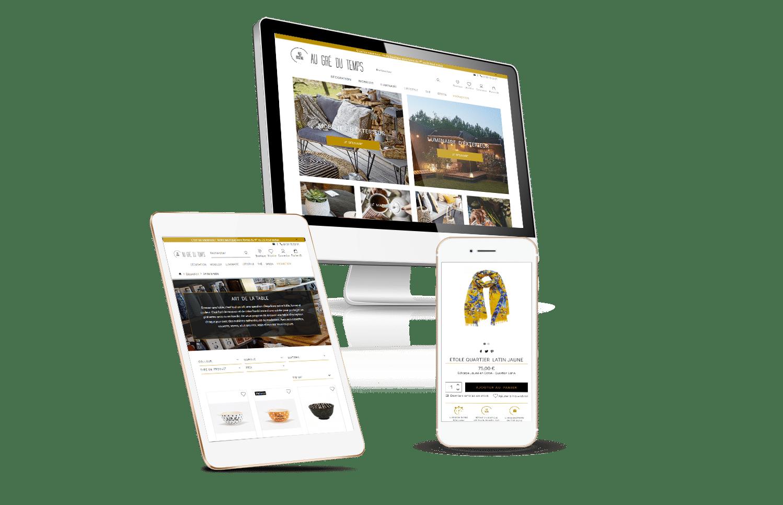 Webdesign site e-commerce décoration