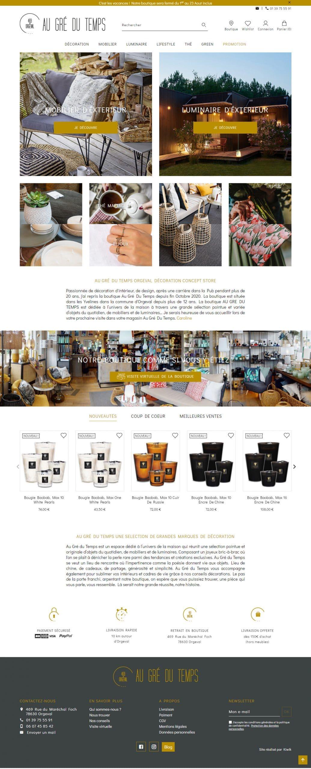 e-commerce décoration